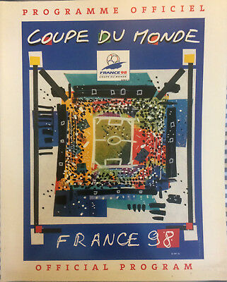 WORLD CUP FINALS FRANCE 1998 OFFICIAL PROGRAMME 170 pages