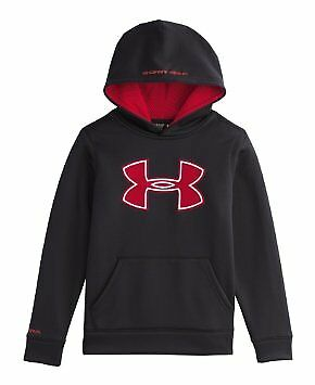 Under Armour Boys Fleece Storm Hoodie 1259690 - Black/Red XL