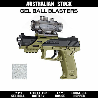 Toy Pistol Gel Ball Blaster Water Gun Battery Powered USP