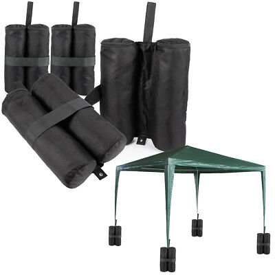 4 x Large Gazebo Foot Leg Pole Sandbag Weights Marquee Market Stall Sand Bags