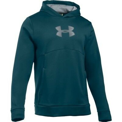 Under Armour 1289041-861 Storm Logo PO Hoodie - Teal/Peacock-Large