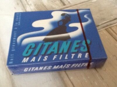 "ancien Paquet de cigarette plein ""gitanes mais filtre""pour collection uniquement"