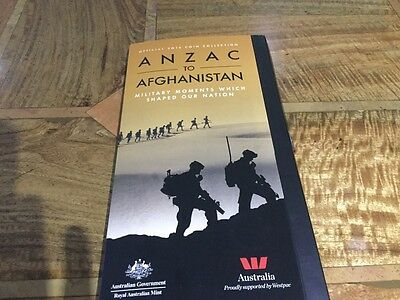 official 2016 coin collection anzac to afghanistan complete