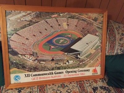 1982 Commonwealth Games Framed Opening Ceremony Poster