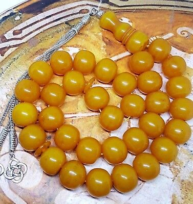 Xlarge handmade rounded 33 honey prayer-beads-worry-beads-tasbih-komboloi