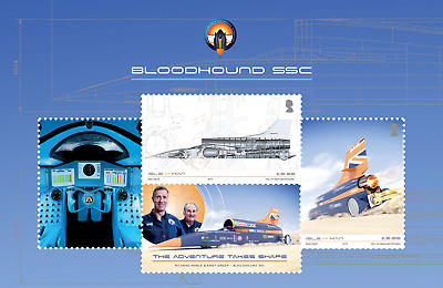 Isle Of Man-  2017- BLOODHOUND SSC - Miniature Sheet