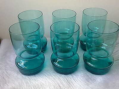 Vintage Blue Cocktail Glasses made in Poland