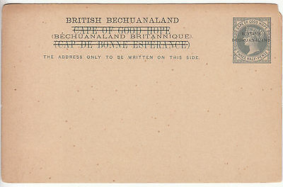 British Bechuanaland: QV Three Half-Pence Postcard