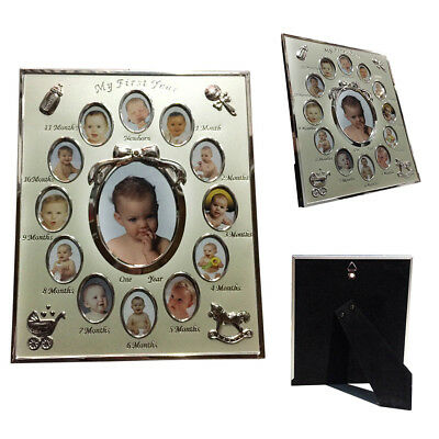 New Infant My First Year Baby Picture Frame 12 Month Photo Toddler Shower Gift