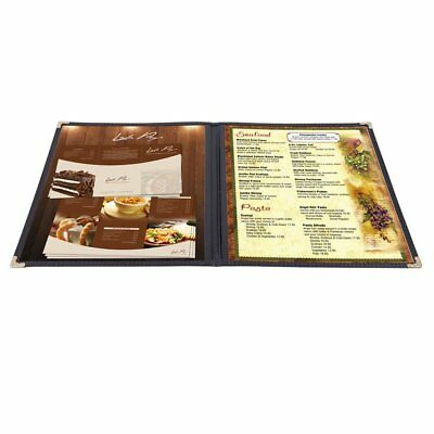 Yescom 30pcs Menu Covers 8.5x11inches Double Stitched Folder 2 Pages 4 Views Bar