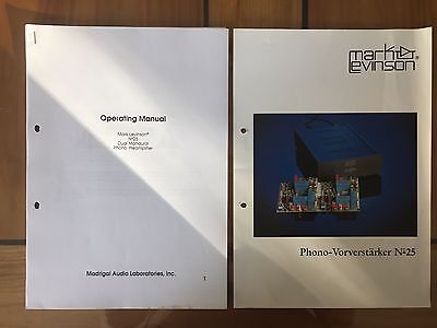 Mark Levinson Phono Vorverstärker No 25  Prospekt & Operation Manual