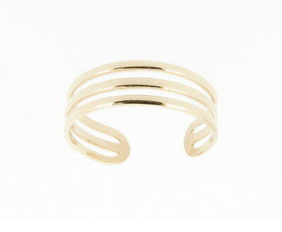 9ct Yellow Gold Triple Band Toe Ring - NEW Made in England *RRP £49.99*