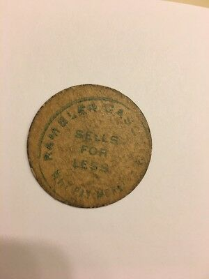 Unique Rare Missouri counterstamp sales tax token Rambler Gasoline