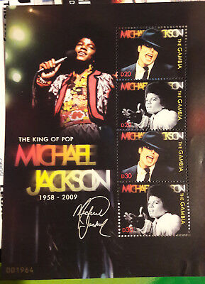 MICHAEL JACKSON memorial stamps Limeted edition N° 001964