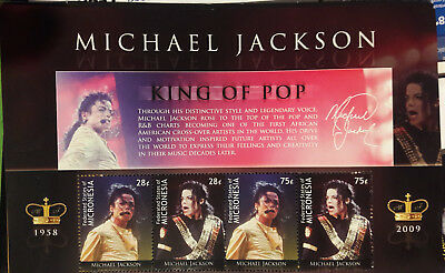 MICHAEL JACKSON memorial stamps Limeted edition N° 08723