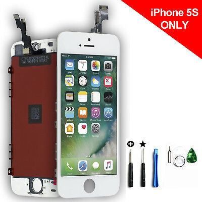 Replacement LCD Digitizer+Touch Screen Assembly Kit for iPhone 5S White