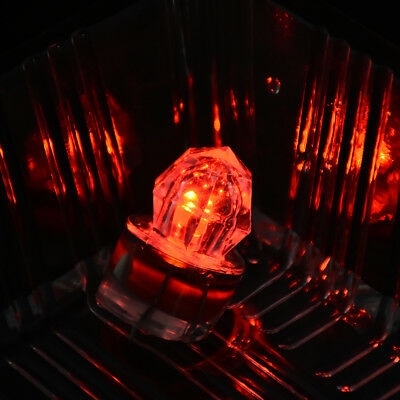 Red LED Flash Squid Strobe Bait Lure Fishing Light Deep Drop Underwater Diamond