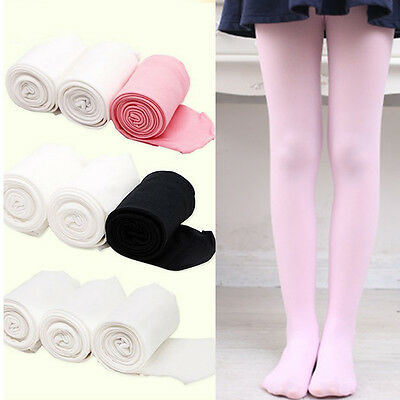 US STOCK Kids Children Ballet Dance Tights Footed Seamless Girls and Ladies 01