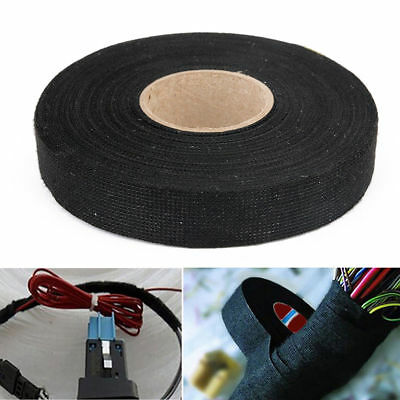 Hot 19mm x 15M Adhesive Cloth Fabric Tape Cable Looms Wiring Harness For Car