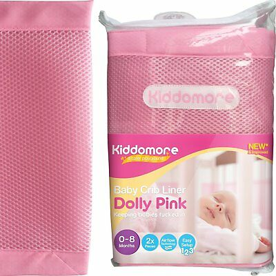 Kiddomore Breathable Airflow Rail Cover and Bumper Baby Mesh Crib Liner, Dolly