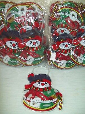 {X 48 }   Girls   Christmas Hair Accessories In A Snowman Bag