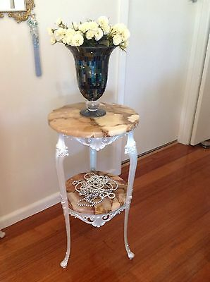 Shabby Chic Hall Stand With Marble Top and Shelf