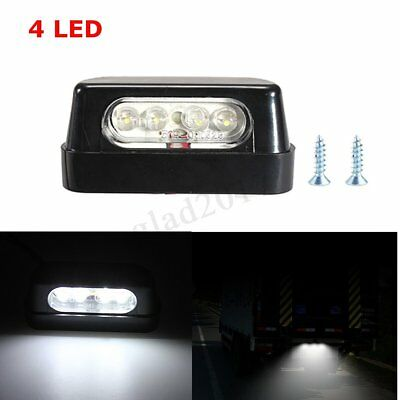 4 Led Universal Car Truck Scooter Motorcycle Micro Rear Number Plate Light Lamp