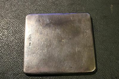 Sterling silver silver fold over note / money case HM Birmingham 1917 3.5*3.25""