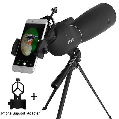 25-75X70 Zoom Spotting Scope BAK7 Prism Waterproof With Tripod & Phone Adapter