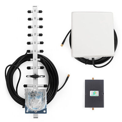 2100MHz 65dB 3G mobile phone signal booster repeater amplifier + Yagi antenna