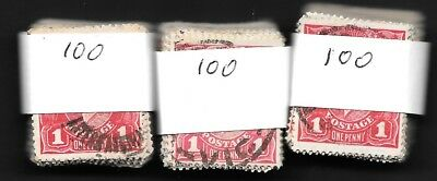 KGV     1d  RED   SINGLE WMK       3 X 100  BUNDLES       300 STAMPS