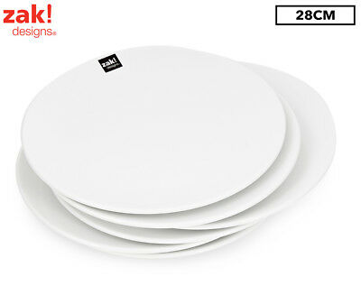 Zak! Coupe Dinner Plate 6-Piece Set - White