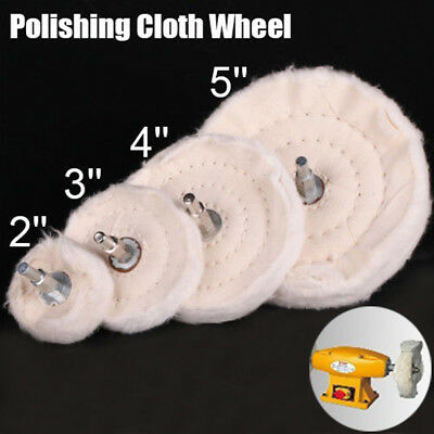"2""/3""/4""/5"" Polishing Pad Mop Wheel Drill Buffing Rotary Tool For Metal Plastic"