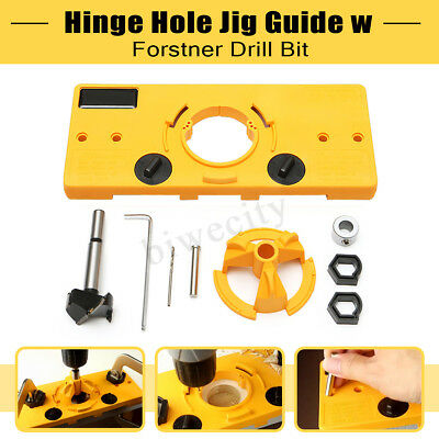 35MM Cup-Style Hinge Jig Drill Guide Cabinet Door Installation Hole Locator Set