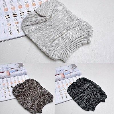 Cool Women Men Winter Warm Ski Knitted Crochet Slouch Baggy Beanie Hat Cap Beret