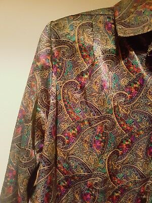 60s vintage silk psychedelic funk shirt blouse
