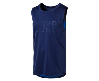 Puma Men's Energy Sleeveless Tee - Blue Depths