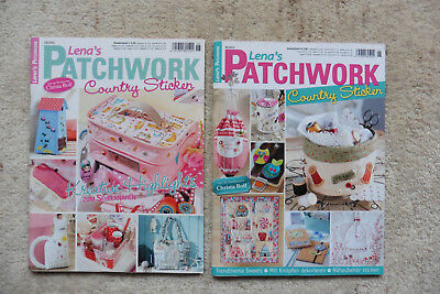 "Zwei Hefte ""Lena´s Patchwork, Country sticken"""