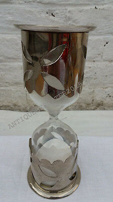 Fully Nickle Beautiful Designing White Sand-timer Vintage Hourglass