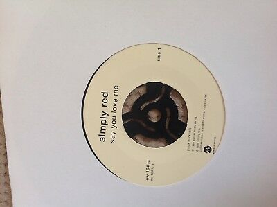 "Simply Red - Say you love me jukebox single   7"" vinyl single record"