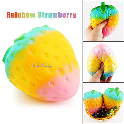 11CM Jumbo Squishy Chocolate Jam Strawberry Squeeze Bread Cake Scented Soft Toy