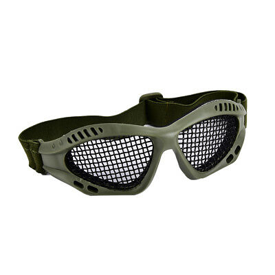 Outdoor Paintball Goggle Hunting Airsoft Metal Mesh Glasses Eye Protection @