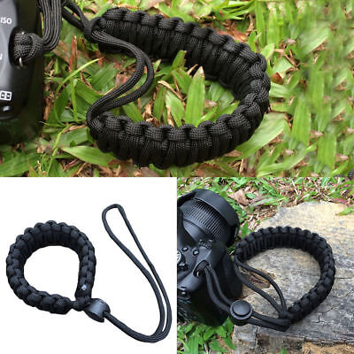 1x Braided Paracord Adjustable Soft Strong Camera Wrist Lanyard Strap Weave Cord