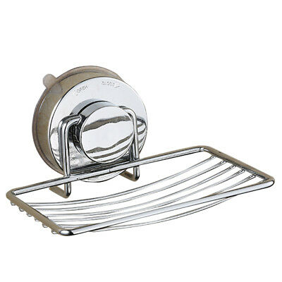 Stainless Steel Suction Cup Soap Holder Basket Wall Mount Bathroom Accessories