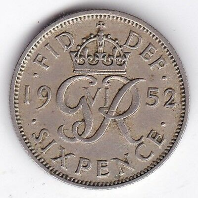 1952 George VI Sixpence***Collectors***