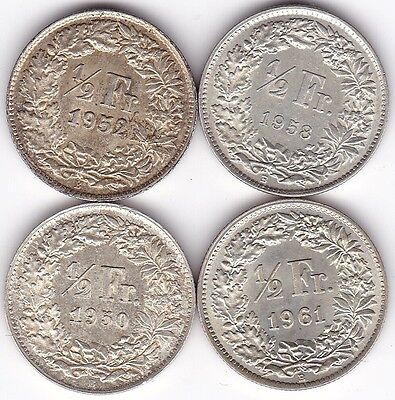 Selection Of High Geade Switzerland 1/2 Francs***Collectors***UNC***Silver***