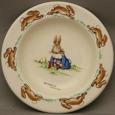 Royal Doulton Bunnykins - ******Miniature Plate - Signed by Barbara Vernon******
