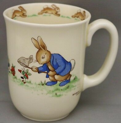 Royal Doulton Bunnykins Tall Mug - Signed - Barbara Vernon - **Bargain Priced.**