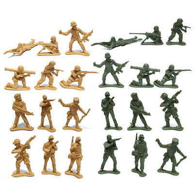 100pc/Pack Military Plastic Toy Soldiers Army Men Figures 12 Poses Children Gift