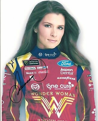 Danica Patrick WONDER WOMAN COLORADO STATE FORD MONSTER 8x10 signed 2017 photo